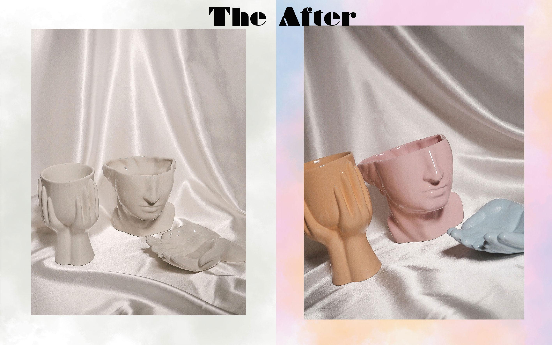 DIY Pastellvasen: Das Ergebnis