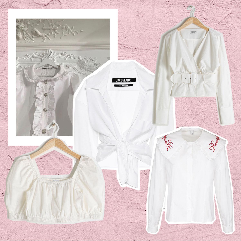 Alles andere als langweilig: Weiße Blusen