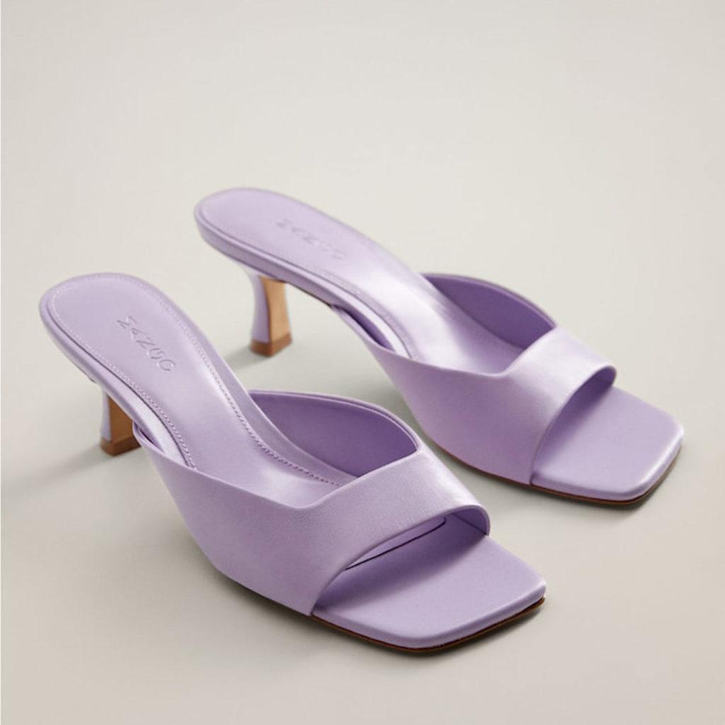 Schuhtrends: Square Toe Sandalen von Mango