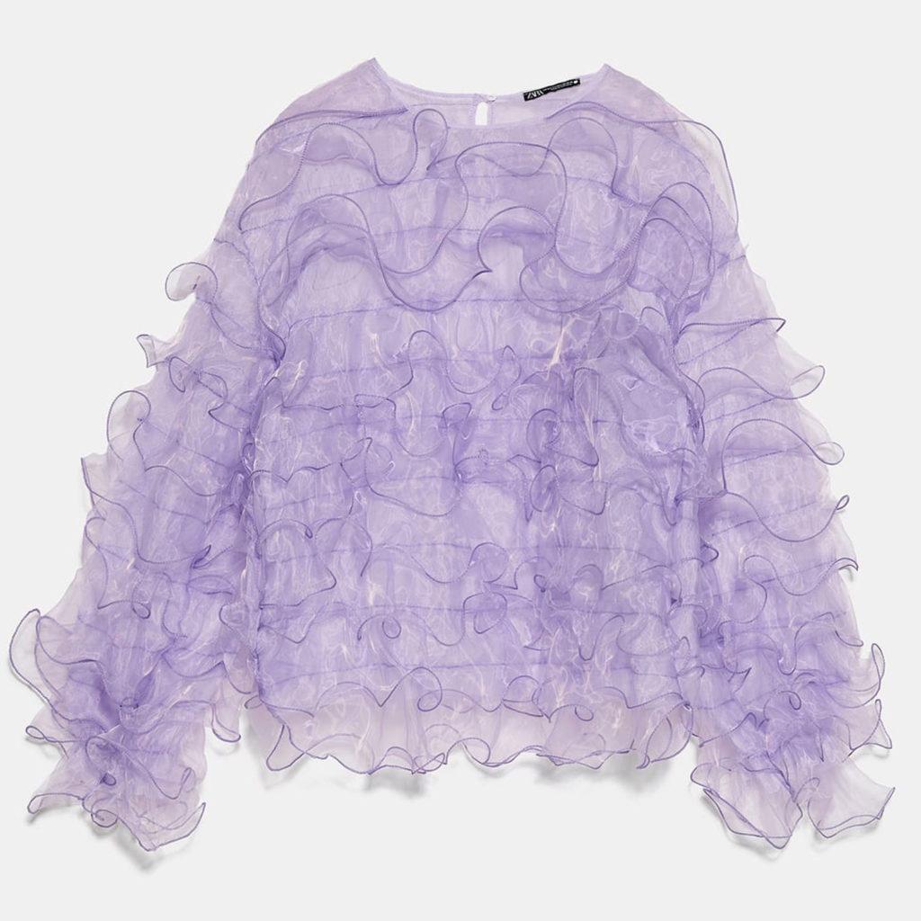 Lilac & Lime: Bluse von Zara