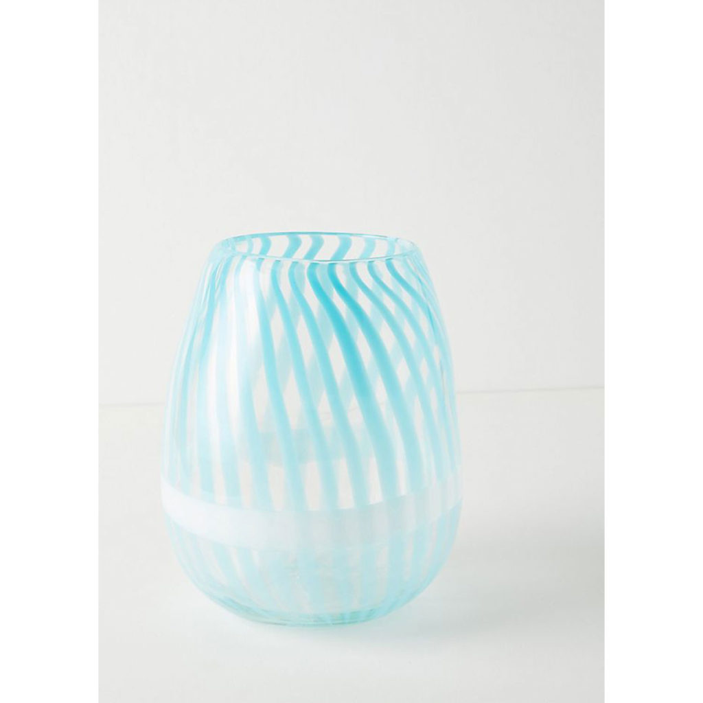 Buntglas: Vase von Anthropologie
